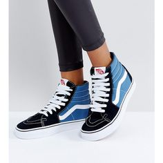 4ffe7c0b6c Vans Classic Sk8 Hi Sneakers In Blue And Black ( 93) ❤ liked on Polyvore