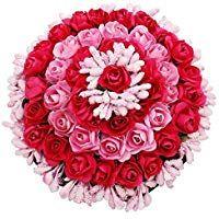 Women/'s Pink Fabric Juda Maker Flower Gajra Hair Accessory