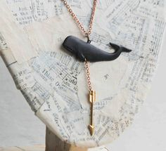 Moby Dick Whale NECKLACE Unisex Whale Hunt by redtruckdesigns