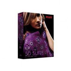 Software Pfaff Creative 5D Suite - Include undici moduli software: 5D Embroidery Extra, 5D Organizer, 5D Vision, 5D Stitch Editor, 5D Design Aligner, 5D Sketch, 5D Cross Stitcher e 5D Family Portrait.