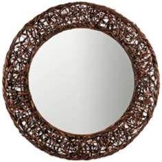 "Cooper Classics Rosalie 31"" Wide Round Rattan Wall Mirror | Lamps Plus $179"