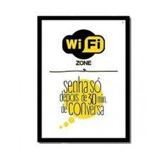 Quadro Wi-Fi Zone