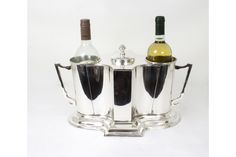 Art Deco Style Silver Plated 2 Bottle Wine Cooler Ice Bucket | Vinterior   #art_deco
