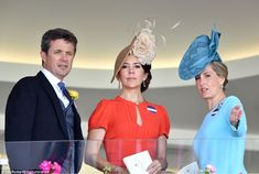 dailymail:  Royal Ascot 2016, Day 2, June 15, 2016-Crown Prince Frederik, Crown Princess Mary and the Countess of Wessex