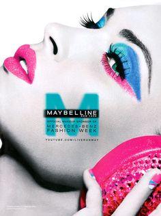 Pink and blue makeup
