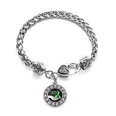 Inspired Silver Organ Donor Circle Charm Braided Bracelet Silver Plated with Crystal Rhinestones -- Click on the image for additional details.