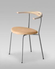 Minimal Chair PP 701 pp mobler Hans Wegner la boutique danoise Hans Wegner, Steel Table, Scandinavian Furniture, Cafe Design, Mid Century Furniture, Cool Rooms, Modern Interior, Minimalism, Furniture Design