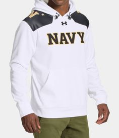 """Men's Navy """"Summer Whites"""" UA Storm Armour® Fleece Hoodie Navy Sister, Navy Football, Fleece Hoodie, Ua, Under Armour, Star Wars, Hoodies, Clothing, Summer"""