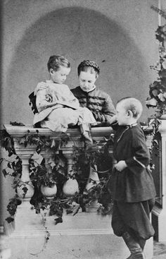 Grand Duchess Marie Alexandrovna and her sons Grand Duke Sergei Alexandrovitch and Grand Duke Paul Alexandrovitch | Royal Collection Trust