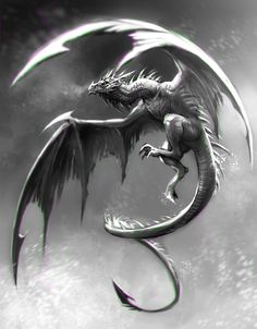 BW Wyvern Speed Painting by Kawiku