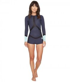 Rip Curl - Madi Long Sleeve Boyleg Spring Suit (Blue) Women's Wetsuits One Piece