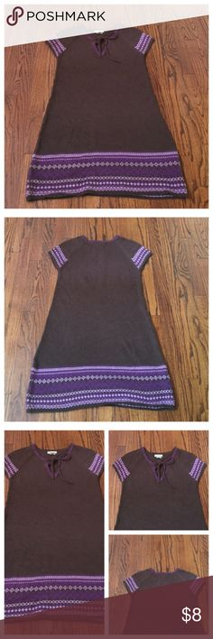 Love Rocks SIZE LARGE Sweater Dress In good preowned condition. No holes. No rips no piling. Front tie string. Love Rocks  Dresses