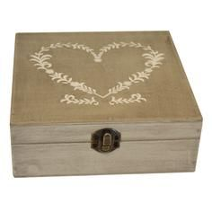 Classic Elegance Collection Heart Trinket Box - ideal for guest postcards - Dunelm Mill