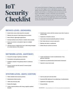 iot security checklist Data Science, Computer Science, Autonomous Robots, Computer Forensics, Computer Basics, Smart Home Security, Deep Learning, Online Advertising, Article Writing