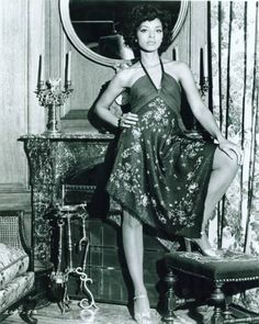 """Actress Vonetta McGee. Born Lawrence Vonetta McGee in 1945 in San Francisco, Vonetta was a pre-law student before leaving college for Rome in the 1960s to pursue a career as an actress. Although she is known primarily for her work in blaxploitation films (""""Blacula"""" and more), her first film work was in Italian films (""""Faustina,"""" and """"Il Grande Silenzio"""" (""""The Great Silence"""") where Sidney Poitier discovered her. He had her cast in his 1969 film """"The Lost Man,"""" her first American movie."""