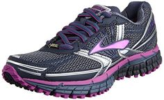 Brooks Womens Adrenaline ASR 11 GTX Shoes Vintage Indigo  Midnight  Purple Cactus Flower 5  B >>> Visit the image link more details.(This is an Amazon affiliate link and I receive a commission for the sales)