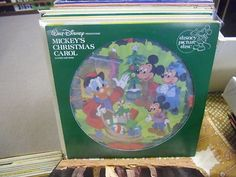 Mickey's Christmas Carol In Story and Song vinyl picture disc LP EX Walt Disney
