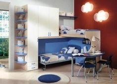 Brilliant Charming Blue Modern Kids room