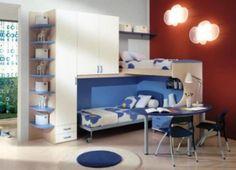 Brilliant Charming Blue Modern Kids room