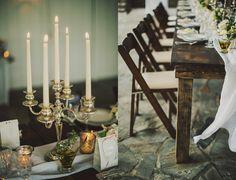 nashville wedding elopement  table decor / candles / elegant and rustic  Cedarwood Weddings, Nashville, Tennessee
