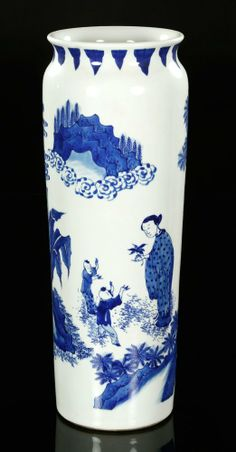 JP: Chinese 17th C. Blue and White Porcelain Vase ✖️No Pin Limits✖️More Pins Like This One At FOSTERGINGER @ Pinterest✖️
