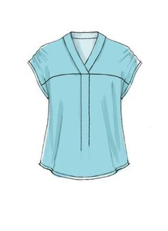 Tunic Sewing Patterns, Sewing Blouses, Blouse Patterns, Clothing Patterns, Dress Design Sketches, Fashion Design Sketches, Techniques Couture, Make Your Own Clothes, Diy Couture