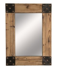 This Rustic Mirror by Wilco is perfect! Pallet Mirror, Wood Framed Mirror, Rustic Mirrors, Rustic Frames, Diy Mirror, Rustic Wood, Rustic Decor, Barn Wood Frames, Wood Wall