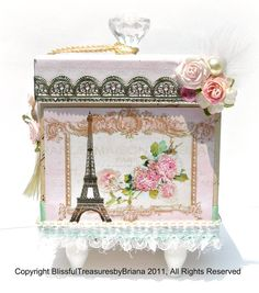 Decorative Box Shabby Chic Decor by BlissfulBoxes on Etsy