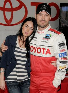 Pin for Later: Megan Fox and Brian Austin Green's Sweetest, Sexiest Moments  Brian had Megan's sweet support as he participated in a Toyota celebrity race day in LA back in April 2010.