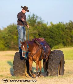 Tire obstacle! Neat one love it! Clinton Anderson!