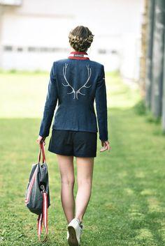 Jacke Leinen blau - Mirabell Plummer Denim, Fashion, Mandarin Collar, Linen Fabric, Jackets, Blue, Moda, Fasion, Jeans