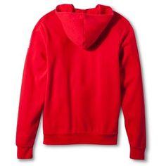 Zip-Up Poly-Cotton Fleece Hoodie - Red (XS), Variation Parent