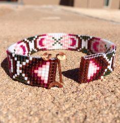 Infinity Bead Loom Bracelet Bohemian Boho Artisanal by PuebloAndCo