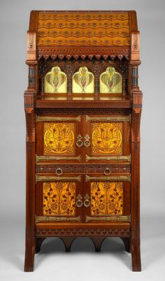 Attributed to Frank Furness and Daniel Pabst (American): Cabinet (1985.116) | Heilbrunn Timeline of Art History | The Metropolitan Museum of Art