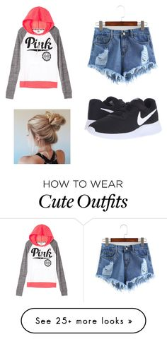 """""""Cute Simple Outfit."""" by jadaaltanese on Polyvore featuring NIKE"""