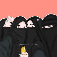 4 Best Friends, Best Friend Drawings, Islamic Cartoon, Hijab Cartoon, Islamic Girl, Girl Gang, Muslim Women, I Am Awesome, Girly