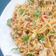 spaghetti squash meat herbs 5