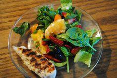 grilled chicken citrus salad with citrus vinaigrette