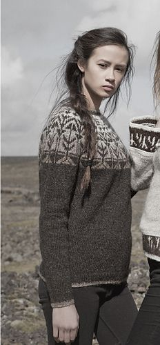Neuen Veðurfræðingurinn/weatherman is a nearly-seamless yoke sweater, knit in the r., Veðurfræðingurinn/weatherman is a nearly-seamless yoke sweater, knit in the r. Fair Isle Knitting, Hand Knitting, Crochet Woman, Knit Crochet, Icelandic Sweaters, Fair Isle Pattern, Knit In The Round, Knitting Projects, Knitwear