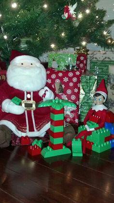 Legos with Santa!  Elf on the Shelf.
