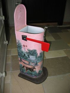 This could be a trash can, a container to hold toilet paper, or feminine products In the powder room.  The possibilities are endless.  This is genius.
