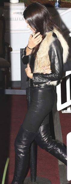 Lovely Ladies in Leather: Kendall Jenner in leather pants & boots