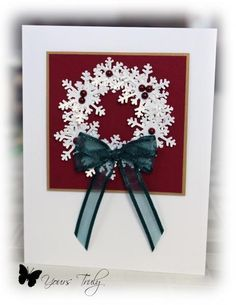 Snowflake Wreath by YoursTruly - Cards and Paper Crafts at Splitcoaststampers