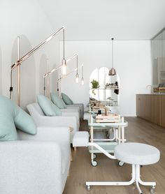 Beauty School Knockout: Beauty EDU Opens in Melbourne — KNSTRCT - Carefully Curated Design News nail salon. store display