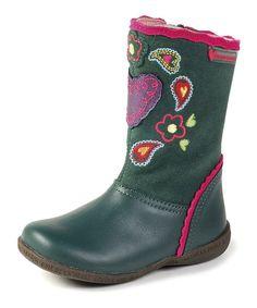 Look at this #zulilyfind! Agatha Ruiz de la Prada Green Embellished Boot by Agatha Ruiz de la Prada #zulilyfinds
