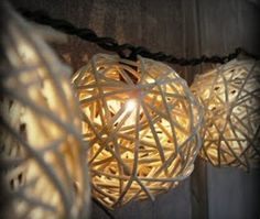 Check out how to make easy DIY rustic string lights @istandarddesign