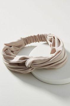 Pink twist knit patter headband,satin braided metal chain hairband,Fall Winter hair accessories casual hairband,usa wedding decoration