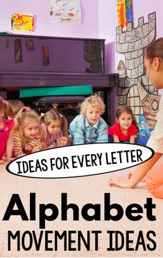 Get the kids moving and learning with alphabet movement activities! Fun ways to move for each letter of the alphabet. This is a great alphabet activity that involves kinesthetic learning. A great gross motor for kids activity as well! Gross Motor Activities, Movement Activities, Phonics Activities, Alphabet Activities, Physical Activities, Learning Activities, Preschool Activities, Kids Learning, Dementia Activities