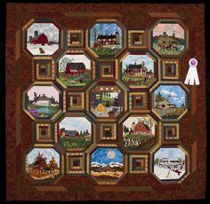 2015 Quilt Expo Quilt Contest, 3rd Place, Category 4, Machine Quilted Bed Size Appliquéd: Barn Quilt, La Vonne Reinecke, Rock Springs, Wis. quiltexpo.com