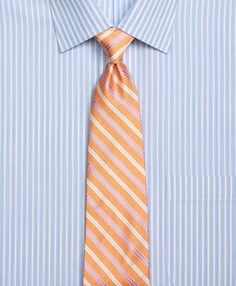 c4a11c4a546d Melange Twin Stripe TieOrange Groom And Groomsmen